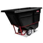 Rubbermaid Rotomolded Tilt Truck, Rectangular, Plastic, 1400-lb Cap., Black