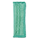 Rubbermaid Hygen™ Dust/Wet Fringed Microfiber Pad, 19 1/2w x 14d, Green