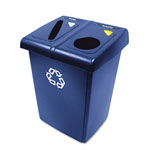 Rubbermaid Blue Recycling Station, 46 Gallon