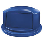 "Rubbermaid Round Brute Dome Top Lid For 44gal Waste Containers, 24.81"" Dia, Blue"