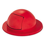 "Rubbermaid Towne Series Dome Top Waste Receptacle Lids, 25"" Dia, Red, Steel"