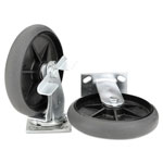 "Rubbermaid Quiet Ball Bearing Caster and Wheel Kit, Black, 8"" Wheels"