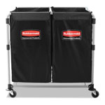 Rubbermaid Collapsible X-Cart, Black/Silver, Steel, 2-4 Bushel Cart