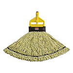 Rubbermaid Maximizer Blended Mop Heads, Large, Yellow, 6/Carton