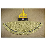 Rubbermaid Maximizer Blended Mop Heads, Medium, Yellow, 6/Carton