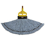 Rubbermaid Maximizer Blended Mop Heads, Large, Blue, 6/Carton