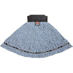 Rubbermaid Maximizer Microfiber Mop Heads, Large, Blue, 6/Carton