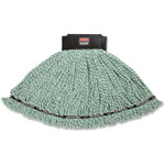 Rubbermaid Maximizer Microfiber Mop Heads, Large, Green, 6/Carton