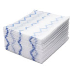 Rubbermaid HYGEN Disposable Microfiber Cleaning Cloths, White/Blue, 12.2 x 14.3, 640/Pack