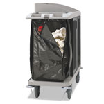 Rubbermaid Zippered Vinyl Cleaning Cart Bag, 25 gal, 17w x 10 1/2d x 33h, Brown