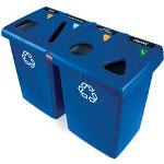 Rubbermaid Blue Recycling Station, 95 Gallon