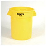 Rubbermaid Yellow BRUTE® Container without Lid, 20 Gallon