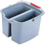 Rubbermaid Brute 19 Quart Double Utility Pail, Gray