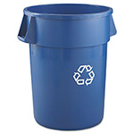 Brute® Brute Blue Recycling Container, 44 Gallon