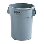 Rubbermaid Brute Refuse Container, Round, Plastic, 44 gal, Gray