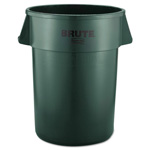 Rubbermaid Brute Round Plastic Outdoor Trash Can, 44 Gallon, Green