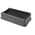 Rubbermaid Swing Top Lid for Slim Jim Waste Containers, 11-3/8 x 20-3/8, Plastic, Black