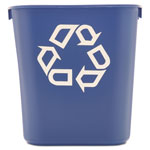 Rubbermaid Blue Recycling Container, 3.9 Gallon