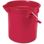 "Rubbermaid Brute Utility Bucket, Handle, 10 Qt, 10-1/2""x10-1/4"", Red"