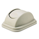 Rubbermaid Rectangular Free-Swinging Plastic Lids, Beige