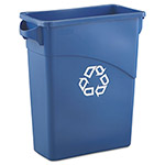 Rubbermaid Slim Jim™ Plastic Indoor Trash Can, 15.9 Gallon, Blue