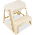 "Rubbermaid Two Step Stool, Holds 300 lbs, 18-1/2"" x 18-1/4"" x 16"", Almond"