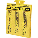 "Rubbermaid Over-The-Spill Caution Pads, Bilingual, 16-1/2"" x 14"", 12PD/CT, YW"
