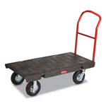 "Rubbermaid 4436-10BLA Heavy-Duty Platform Trucks, 24"" x 48"""