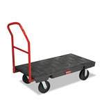 Rubbermaid 4441BLA Heavy-Duty Platform Truck, Black