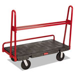 Rubbermaid A-Frame Panel Truck, 2000-lb Cap, 24 1/4w x 48d x 45h, Black/Red