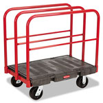 Rubbermaid Sheet/Panel Truck, 2000-lb Capacity, 38 3/4 x 24 1/4 x 38, Black/Red