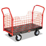 Rubbermaid Side Panel Platform Truck Tpr Casters 24x48 Bla
