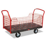 Rubbermaid Side Panel Platform Truck, 1200-lb Capacity, 68 1/8 x 30 1/4 x 41 3/8, Black/Red
