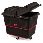 Rubbermaid 800 Pound Black Plastic Tilt Cart