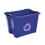 Rubbermaid Blue Recycling Bin, 14 Gallon