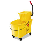 Rubbermaid 44 Quart Bucket/Wringer Combo, Yellow