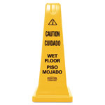 "Rubbermaid Floor Cone,""Caution Wet Flr"", English/Spanish, 25"