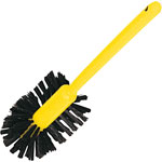 "Rubbermaid Toilet Bowl Brush, Bristles, 17"" Long, 12/CT, Brown/Yellow"