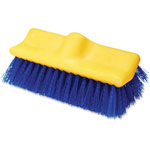 "Rubbermaid Floor Scrub Brush, 10"" Long, 6/CT, Blue/Yellow"