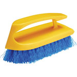"Rubbermaid Scrub Brush, Iron Handle, Plastic Block, 6"", 12/CT, BEYW"