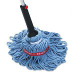 Rubbermaid Self-Wringing Ratchet Twist Mop, Blended Yarn Head, 54 Handle