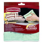 "Rubbermaid Dusting And Cleaning Cloths, Nonabrasive, 16""x16"", 6/PK, GN"
