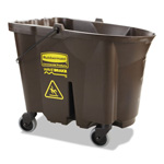 "Rubbermaid WaveBrake Bucket, 35 Qt, Brown, Plastic, 20""x16""x17.4"""