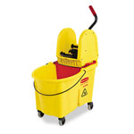 Rubbermaid 44-Quart Bucket/Downward Pressure Wringer Combination, Yellow