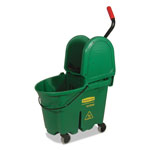 Rubbermaid WaveBrake Bucket/Wringer Combos, 35 qt, Green