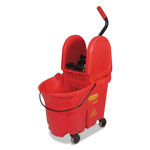Rubbermaid WaveBrake Bucket/Wringer Combos, 35 qt, Red