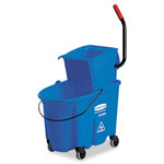Rubbermaid 35 Quart Side-Press Wringer/Bucket Combo, Blue