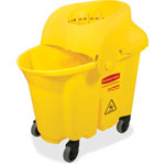 Rubbermaid Combination Mop Bucket, Yellow