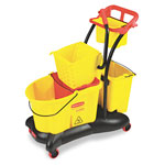 Rubbermaid 35 Quart Mopping Trolley Side Press, Yellow