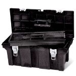 "Rubbermaid Black Industrial 26"" Tool Box"
